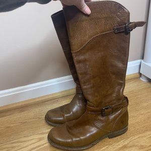 Frye Phillip Light Brown Riding Boots
